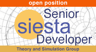 Senior SIESTA developer open position
